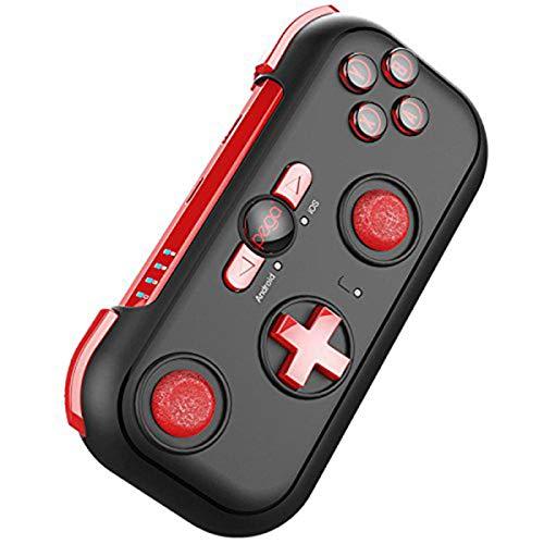 ZHD&CC Mini Bluetooth Gamepad mit Tragetasche und Universalhalterung für Android, iOS Smartphone, PC, Laptop, TV, Nintendo Switch
