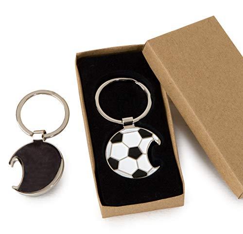 Mopec sleutelhanger voor voetbal, metaal, eenheidsmaat