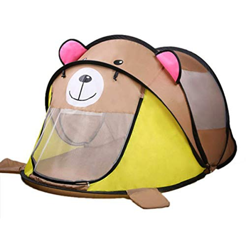 HIUHIU Portable children's tent baby ocean ball pool pit children's toy game house outdoor baby folding travel camping tent,Brown