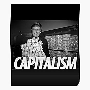 US214PT Trump Communist Capitalism Poster Anti Gift for Home Decor Wall Art Print Poster