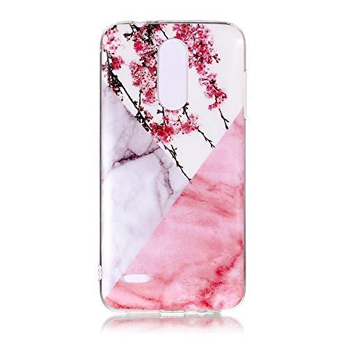 Yhuisen Handy-Taschen und Handy-Hüllen, LG K8 2018 Fall, Marmor Stein Muster weichen TPU zurück Shell Fall für LG K8 2018 (Farbe : 10)