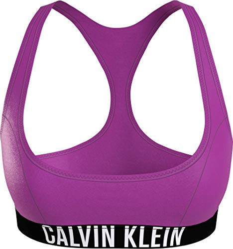 Calvin Klein Bralette-RP Parte Superior de Bikini, Fucsia Verano, XS para Mujer