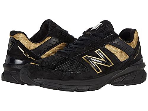 New Balance Men's M990V5 Running Shoe, Size: 12 Width: D Color: Black/Gold