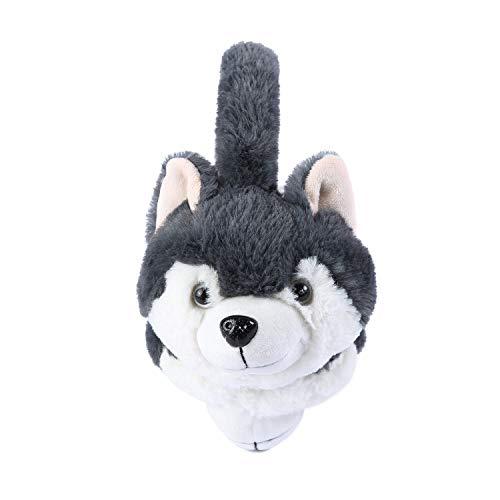 Surblue Winter Dog Fur Earwarmer Warm Cute Earmuffs Outdoor Ear Covers Headband (Grey-1, F)