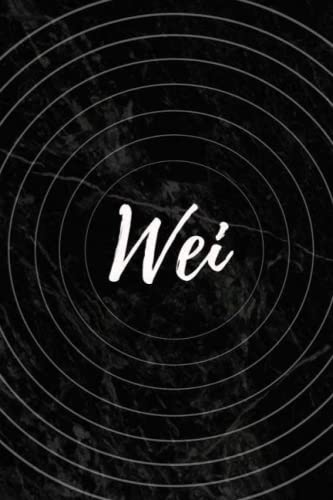 Wei: Personalized Sketchbook with Name Wei | Blank Writing Drawing Notebook