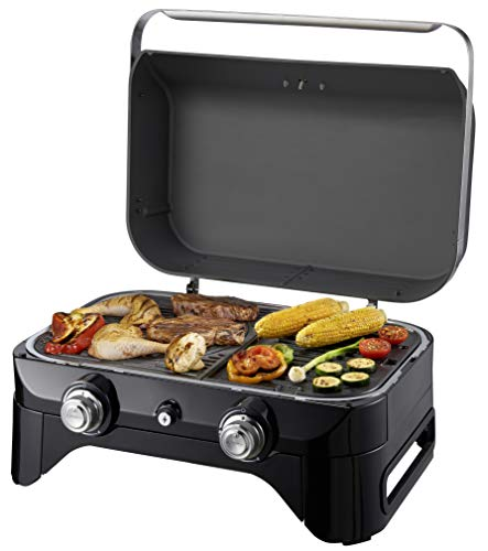 Campingaz Attitude 2100 LX, Portable Table Top, 2 Steel Burners, 5 kW Power, Camping Gas Barbecue with Lid, Thermometer…