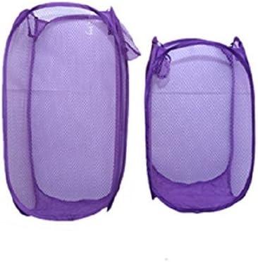 Kuber Industries Mesh Laundry Basket Pcs 2 Set Big+Small Price Max 84% OFF reduction