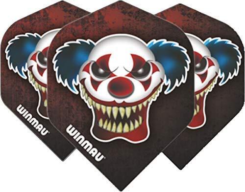 Winmau Darts Sport Mega Standard Flights Pack 10 - Rot Clown, One Size