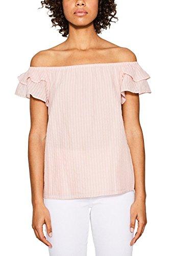 ESPRIT Damen 067EE1F007 Bluse, Mehrfarbig (Pastel Pink 695), 38