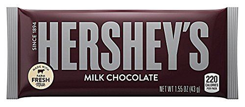 Hersheys Milk Chocolate Cioccolato, 43 gr.