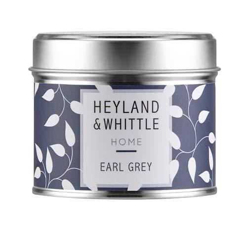 Heyland und Stück Kerbschnitzmesser Earl Grey Soja Kerze in einer Dose