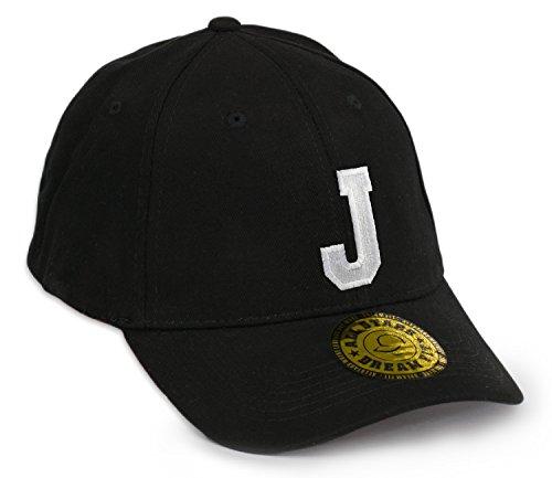 Gorra de béisbol Snap Back, con visera plana, diseño 3D letras góticas A-Z, Hip-Hop multicolor J Regular