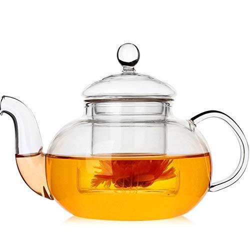 Teapot with Glass Teapot 400ml Borosilicate Glass Tea Pots Tea Strainer for Loose Leaf Tea CHAJU (Size : 800ml)