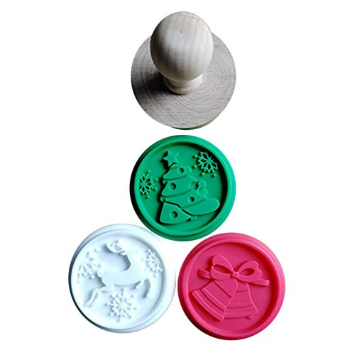 Lanceasy Kerstmis 1 set siliconen DIY Cookie stempel fondant vorm keks reliëf snijder suikervaardigheid gereedschap