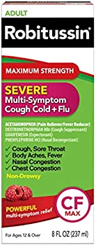 Robitussin 8 fl. oz Adult Maximum Strength Severe Cough, Cold + Flu