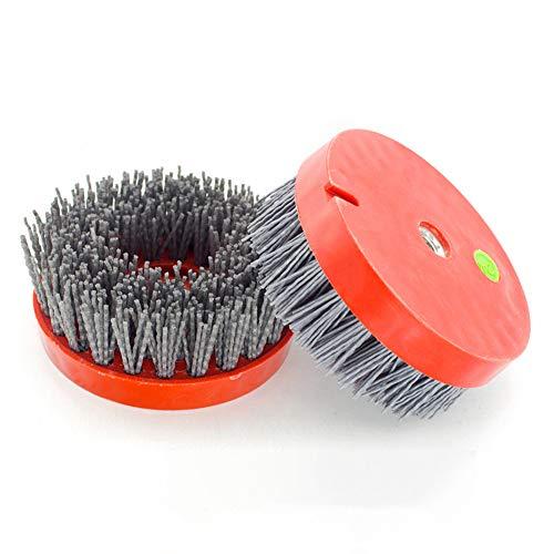 FINGLEE DT 1Pcs 4.5' inch 110mm Thread 5/8-11,Round Abrasive Antique Brush,Nylon Brush,Diamond Abrasive Brushes,Wood Stone Grinding Tools (Grit 2000)