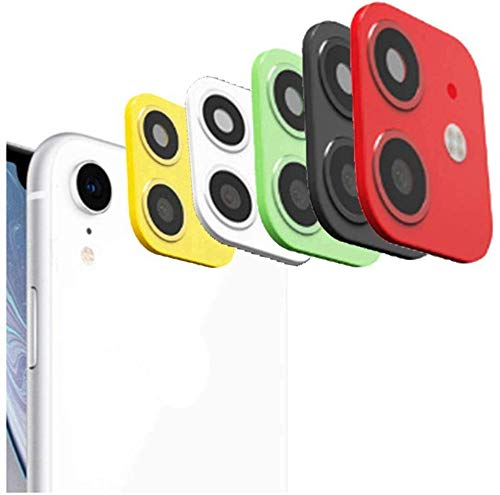 Fake Camera Applicable for iPhone XR Xs MAX X Seconds Change to for iPhone 11PRO MAX Camera Lens Cover Sticker High Definition Camera Screen Protector (Black iPhone xr)