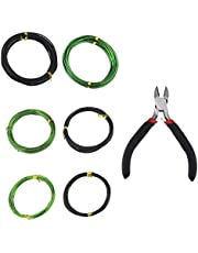 YINETTECH 5M Bonsai Boom Training Draden met Wire Cutter Kit Geanodiseerd Aluminium 1.0 mm 1.5 mm 2.0 mm Anti-corrosie Roestbestendig