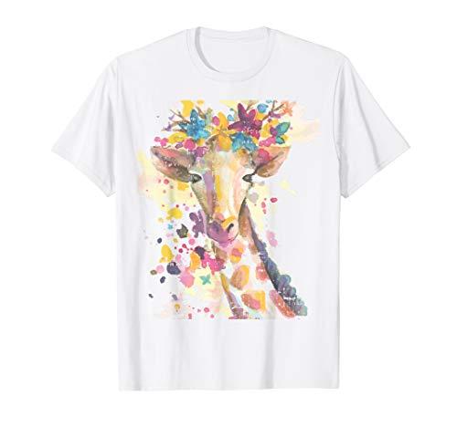 Aquarell Giraffe Kostüm Süßes Lustiges Halloween Geschenk T-Shirt
