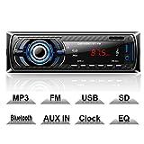 Hoidokly Autoradio mit Bluetooth Freisprecheinrichtung, 4 x 60W Digital Media-Receiver, FM/USB/ MP3-Media-Player, Drahtlose Fernbedienung Enthalten