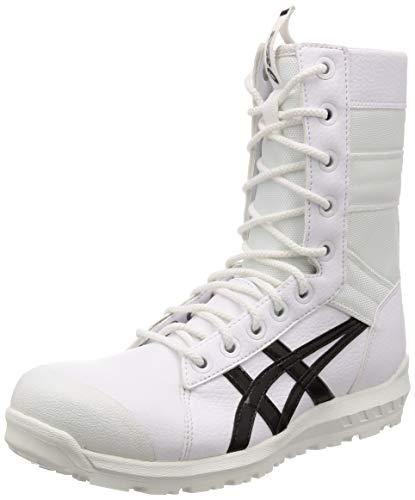 [アシックス] ワーキング 安全靴/作業靴 ウィンジョブ CP402 JSAA A種先芯 耐滑ソール fuzeGEL搭載 メンズ ホワイト/ブラック 27.0