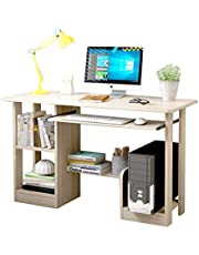 Computer Table Home Office Large Desk Gaming Table Study Writing Table Modern Simple Style Desk with Bookshelf