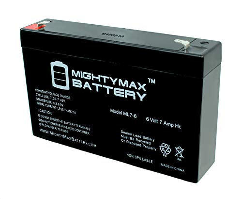 Mighty Max Battery 6V 7AH (SLA) Battery for Home Alarm Security System AGM Brand Product