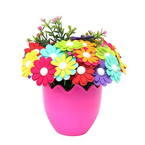 Baalaa Ramo de Botones DIY Material Hecho a Mano para NiiOs Bolsa Flor de Mano para el Hogar para el DíA de la Madre Presenta un Regalo de la Hija (D)