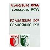 FC Augsburg Schriftzug und Logo Sticker Rot Grün