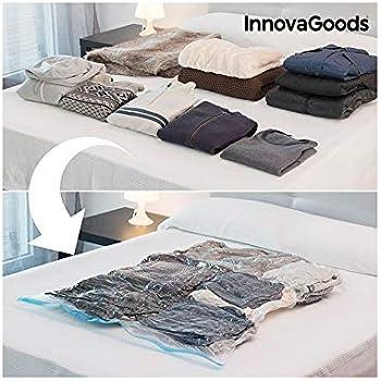 InnovaGoods Bolsa al Vacío para Ropa, Polietileno, 100x130x3 cm ...