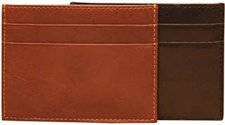 Tony Perotti Italian Leather Front Pocket Credit Card Wallet Id Window