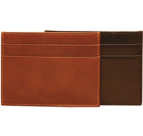 Italian Bull Leather Express Front Pocket Credit Card Wallet with ID Window