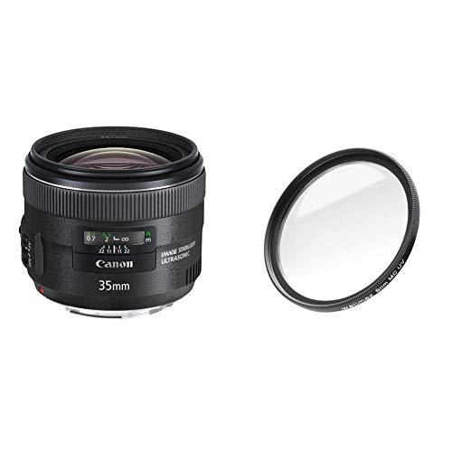 Canon Objektiv EF 35mm F2 is USM für EOS (Festbrennweite, 67mm Filtergewinde, Bildstabilisator) schwarz & Walimex Pro UV-Filter Slim MC 67 mm (inkl. Schutzhülle)