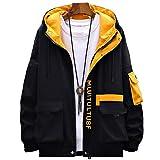 Spring Autumn Japanese Streetwear Jackets Men Loose Hooded Mens Cargo Bomber Jackets Hip Hop Windbreaker 2 3XL