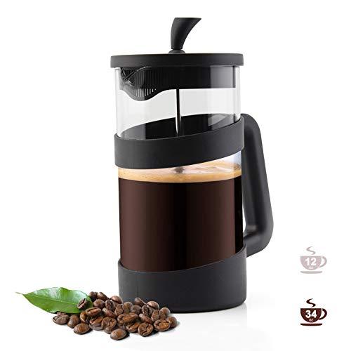 RAINBEAN French Press Kaffeebereiter Kaffeepresse 6 Tassen, Französische Presse Maker für Filterkaffee, Teebereiter und Milchschaum, mit dreifachem Edelstahlfilter, hitzebeständiges glas
