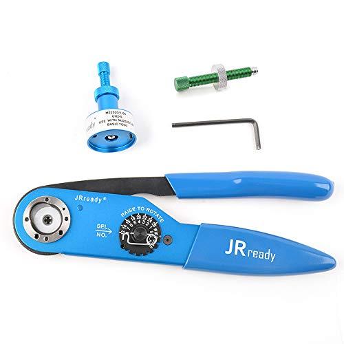 JRready Crimp Tool Kit YJQ-W2A Standard Adjustable Indent Crimper Frame & UH2-5 Adjustable Positioner & S-HDT Screw Wire Size 12-26AWG