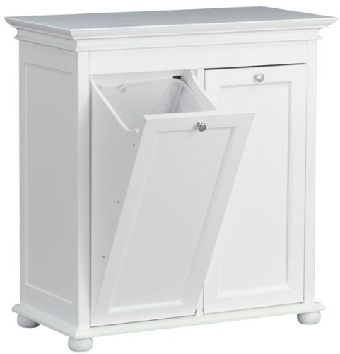 Home Decorators Collection Hampton Bay 26 Inch White Double Tilt Out Bathroom Hamper, 27' Hx26 Wx13 D, White