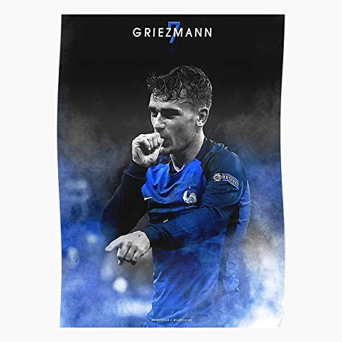 Griezmann Nt Madrid Euro France Antoine Atletico 2016 Jersey Merchandise | Home Decor Wall Art Print Poster