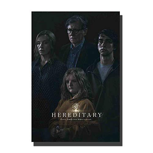 chtshjdtb Hereditary (2018) Film Horror Film Art Poster Wanddekoration Leinwand Raumdekoration Raumdekoration Druck auf Leinwand -50x70cm Kein Rahmen