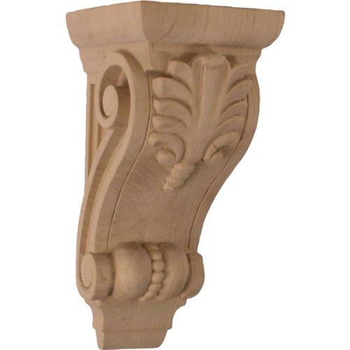 Ekena Millwork COR03X04X08FIAL 3 3/4-Inch W x 4 3/8-Inch D x 8 1/2-Inch H Medium Fig Leaf Corbel, Alder