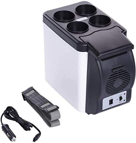 Refrigerador del coche, un viaje de camping portátil refrigerador 6L litros refrigerador de calefacción eléctrica de múltiples funciones Nevera Mini refrigerador del refrigerador 1yess
