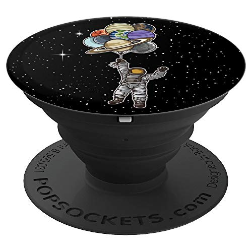Astronaut With Balloons That Are Planets - Spaceman Galaxy PopSockets Grip and Stand for Phones and Tablets