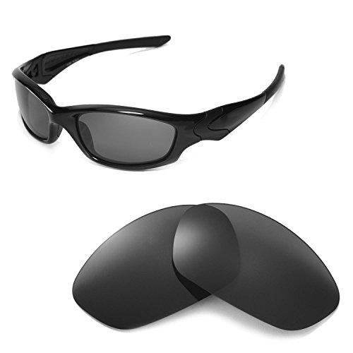 Walleva Ersatzgläser für Oakley Straight Jacket Sonnenbrille - Mehrfache Optionen (Schwarz - polarisiert)