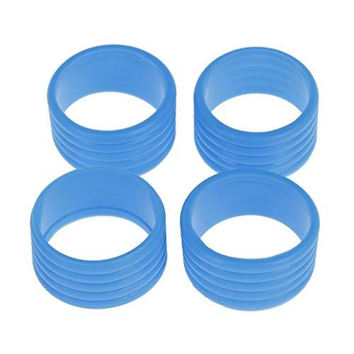 SZHXH Puños de Raqueta de Tenis Anillo de Silicona Agarre de Tenis Protector Elástico Overgrip Fix Anillo Absorbiendo Anillos Eliguos (Color : Blue)