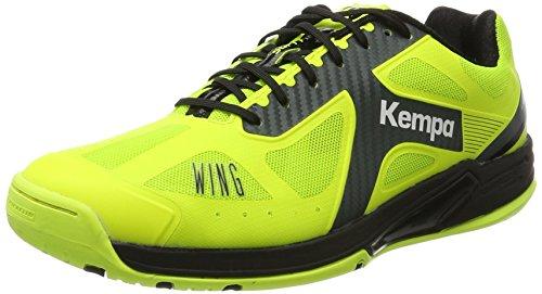 Kempa Unisex-Erwachsene Wing Lite Caution Handballschuhe, Gelb (Jaune Fluo/Anthracite/Noir 03), 49 EU