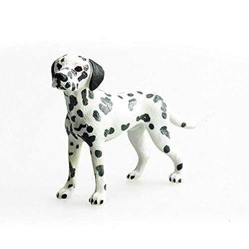 Yowinlo Statuen Dekoartikel Skulpturen Figuren Simulation Tiermodell Haustier Hund Spielzeug Haustier Hund Dalmatiner