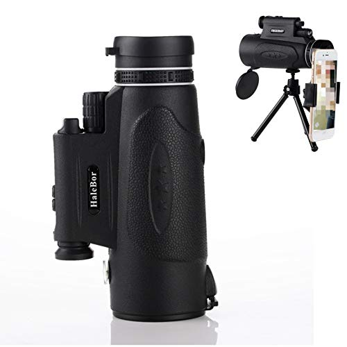 100x90 Monocular Telescope with Phone Holder and Tripod Stand Portable Night Vision Outdoor Monoculars for Birdwatching.