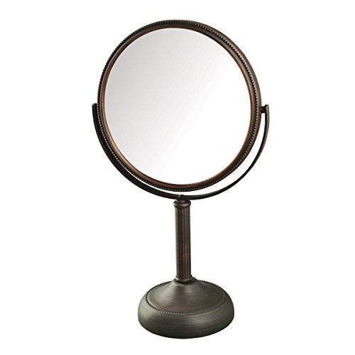 Jerdon JP918BZB 1X and 10X Magnified Table Top Mirror, Bronze Finish, 44 -