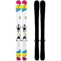 K2 Luv Bug 4.5 FDT JR 10D0809.209.1.076-Ski - Juego de esquís con Fijaciones para niña, diseño 76