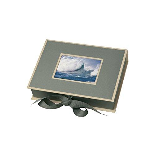 Semikolon (352519) Kleine Fotobox mit Einschubfenster grey (grau) - Aufbewahrungsbox für Bilder - Geschenk-Box für Schmuck - 20,7x15,3x4,7 cm